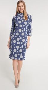 Niebieska sukienka QUIOSQUE prosta mini w stylu casual