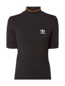 Czarna bluzka Adidas Originals z krótkim rękawem z dżerseju w stylu casual