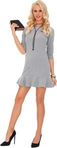 Sukienka MERRIBEL mini z długim rękawem z okrągłym dekoltem