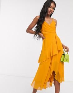 Pomarańczowa sukienka Asos midi