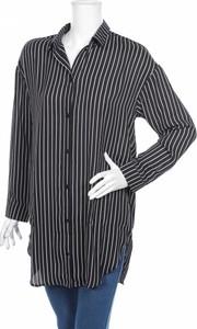 Czarna koszula Monki z kołnierzykiem z długim rękawem w stylu casual