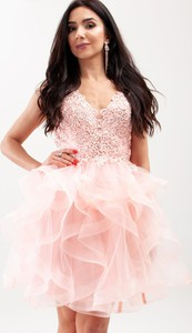 Sukienka Butik Ecru mini z długim rękawem