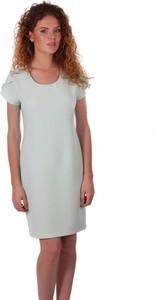 Sukienka Niren mini z okrągłym dekoltem z krótkim rękawem