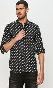 Koszula Diesel z długim rękawem z bawełny z klasycznym kołnierzykiem