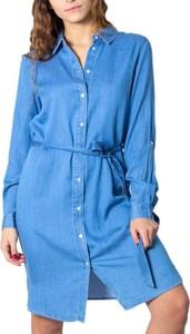 Sukienka Vila z bawełny z kołnierzykiem mini