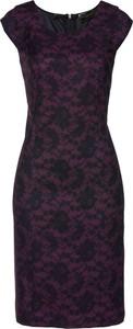Sukienka bonprix bpc selection premium ołówkowa z krótkim rękawem midi