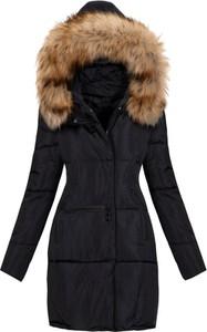 Czarny płaszcz Elegrina w stylu casual