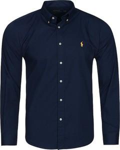 Granatowa koszula Ralph Lauren z bawełny w stylu casual z długim rękawem
