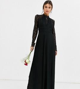 Czarna sukienka Tfnc z długim rękawem