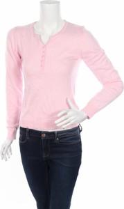 Różowy sweter William De Faye w stylu casual