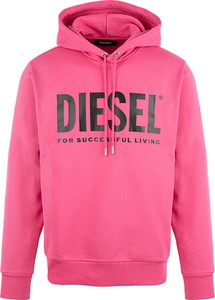 Różowa bluza Diesel w młodzieżowym stylu
