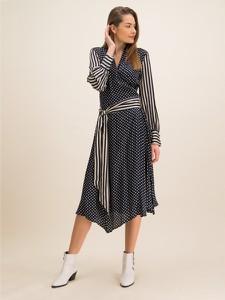 Granatowa sukienka Laurèl koszulowa