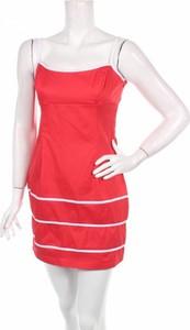 Czerwona sukienka Matmazel bez rękawów prosta mini