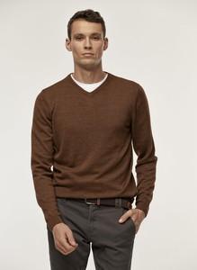 Brązowy sweter Pako Lorente z tkaniny