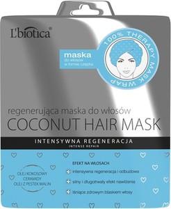 L'Biotica Coconut Hair Mask - regenerująca maska do włosów w formie czepka - 30 ml