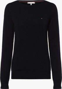 Granatowy sweter Tommy Hilfiger w stylu casual