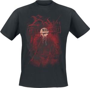 Czarny t-shirt Emp z nadrukiem z krótkim rękawem z bawełny