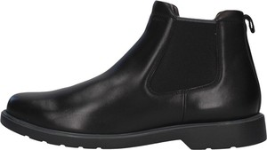 Czarne buty zimowe Geox ze skóry