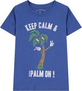 Niebieska koszulka dziecięca Tom Tailor z bawełny z krótkim rękawem dla chłopców