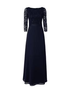 Granatowa sukienka Swing z szyfonu