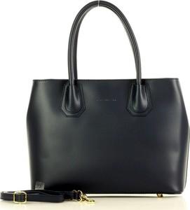 Czarna torebka MAZZINI ze skóry