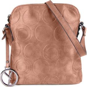 Brązowa torebka Suri Frey średnia w stylu retro z breloczkiem