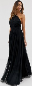 Czarna sukienka Asos Design z tiulu