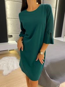 Zielona sukienka ModnaKiecka.pl mini