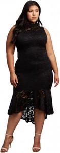 Sukienka noshame midi bez rękawów dla puszystych