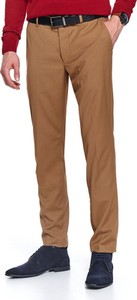 Brązowe spodnie Top Secret z tkaniny