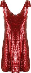 Czerwona sukienka P.A.R.O.S.H. z dekoltem w kształcie litery v mini na ramiączkach