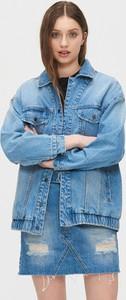 Niebieska kurtka Cropp z jeansu