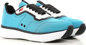 Buty sportowe Prada sznurowane w stylu casual na platformie