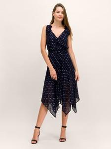 Granatowa sukienka The Kooples bez rękawów