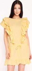 Żółta sukienka Byinsomnia z bawełny w stylu boho