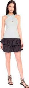 Czarna spódnica By Insomnia mini z bawełny
