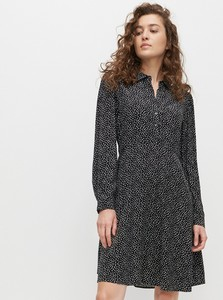 Czarna sukienka Reserved szmizjerka
