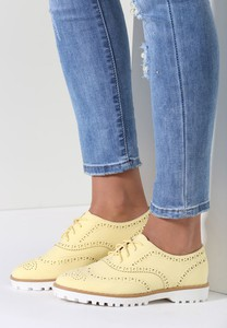 Renee żółte półbuty clalia