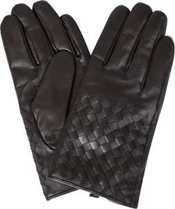 Czarne rękawiczki Giacomo Conti