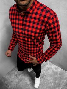Czerwona koszula ozonee.pl z długim rękawem