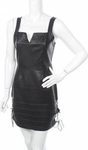 Sukienka Missguided mini ze skóry z dekoltem w kształcie litery v