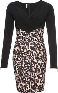 Sukienka bonprix BODYFLIRT boutique z długim rękawem w rockowym stylu midi