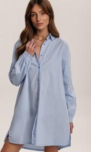 Niebieska koszula Renee w stylu casual z długim rękawem