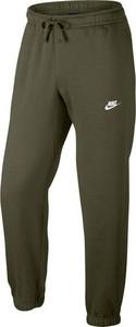 Zielone spodnie sportowe Nike z dresówki