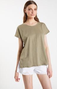 Bluzka FEMESTAGE Eva Minge w stylu casual z tkaniny z krótkim rękawem