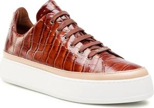 Brązowe buty sportowe MaxMara sznurowane