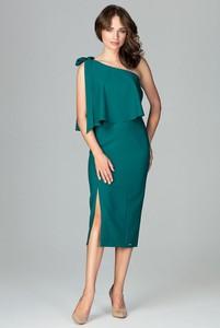 Zielona sukienka LENITIF midi