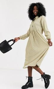 Sukienka Asos Design oversize midi z długim rękawem