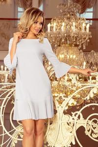Sukienka NUMOCO mini trapezowa z długim rękawem