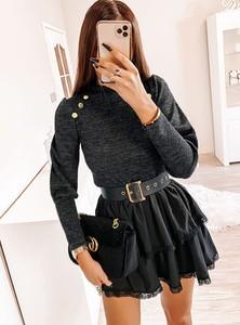 Czarny sweter Pakuten w stylu casual